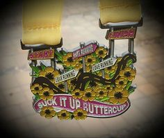 Suck It Up Virtual Race $23.50 Join us and earn this beautiful sparkly finishers medal! This medal truly represents the emotional rollercoaster many runners ride on a run!