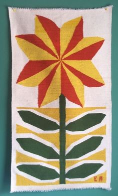 haven't seen before EVELYN ACKERMAN Mid Century Modern Hand Woven Wool Wall Rug Tapestry Rare Design