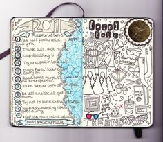 Journalling - lists and resolutions (Act less, think more.)