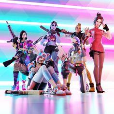 The Squad - Another Fortnite Group Render by WastingNight on DeviantArt Ps Wallpaper, Graffiti Wallpaper, Deadpool Wallpaper, Skin Tumblr, Selfi Tumblr, Dark Beach, Funny Cartoon Memes, Skin Images, Best Gaming Wallpapers