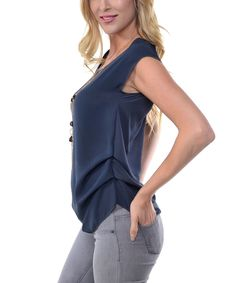 Love this Gray Keyhole-Back Tee & Necklace by SOB Clothing on #zulily! #zulilyfinds