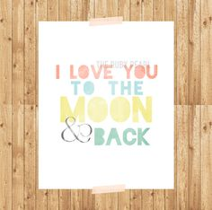 MOON & BACK digital download by therubypearl on Etsy