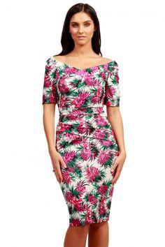 Paradise Diva Palm Dress
