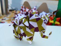 elefantitos de Nobuyoshi plegado por malula _ arte en papel