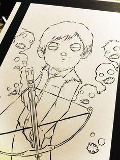 Personagens de The Walking Dead feito com lapis de cor! ~ Zona troll