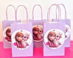 Party bags.  Print picture and glue on