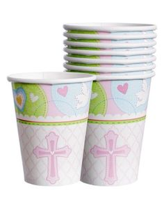 Pink Sweet Baptism Cups 8ct