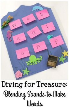 Make reading fun with this hands-on Ocean Themed Reading Game!  Simple and fun way to work on blending sounds to make words!