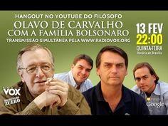 Hangout de Olavo de Carvalho com a família Bolsonaro