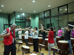 Ten Drum Ciatou Creative Park (十鼓橋糖文創園區) | Everyone could enjoy the fun of playing drums.