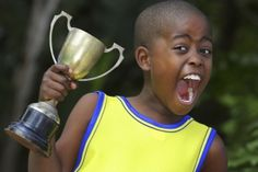 Emotion-Energized: Winning gives us a boost, emotionally and physically as we want to celebrate.  This child looks ready to take on his next challenge.
