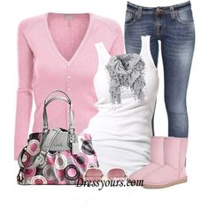 pink - love this outfit - even the bag! Estilo Fashion, Look Fashion, Fashion Outfits, Womens Fashion, Fashion Trends, Fashion Boots, Teen Fashion, Fall Fashion, Outfits 2014
