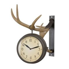 Deer Park Antler Clock | Kirklands