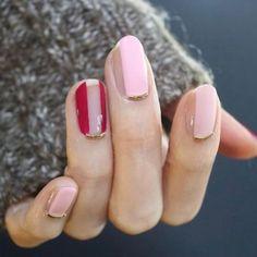 2. Negative Space Nails