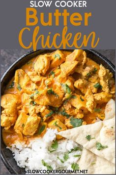 Slow Cooker Butter Chicken is a true family favorite recipe that you will make again and again. Delicous flavors and simple prep make this perfect for dinner on busy nights! - Slow Cooker - Ideas of Slow Cooker Butter Chicken Slow Cooker, Butter Chicken Curry, Slow Cooker Chicken Curry, Recipe For Curry Chicken, Salmon Slow Cooker, Turmeric Recipes Chicken, Simple Curry Recipe, Slow Cook Chicken Recipes, Gourmet