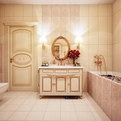 Applying 3 Types of Gorgeous Bathroom Decor Which Combine With Perfect and Awesome Interior Design Ideas Modern Vintage Bathroom, Classic Bathroom, Modern Bathroom Design, Bathroom Interior Design, Vintage Modern, Bathroom Designs, Bathrooms Decor, Bathroom Ideas, Modern Bathrooms