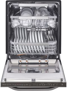 KitchenAid Top Control Dishwasher in Black with Stainless Steel Tub, ProWash Cycle, 46 - The Home Depot Built In Dishwasher, Dishwasher Parts, Kitchenaid Dishwasher, Dishwasher Detergent, Fully Integrated Dishwasher, Whirlpool Dishwasher, Appliance Repair, Decorating Kitchen, Tips