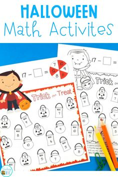 If you're looking for a fun way to develop fact fluency, cleverly disguised in the form of a partner game, that happens to be a twist on a bump game, you're going to love this Halloween freebie. Perfect math fact fluency activities for Math Centers and homework for your students.