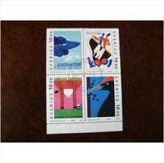 Sweden 2003 Europa Poster Art fine used block 4 stamps SG2265-8 Aerotransport