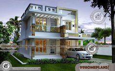 Simple 3 Bedroom House Plan & Beautiful Architectural Low Budget Modern Designs Online, Below 2000 sq ft Home Ideas with Elevations & Pretty Design Plan Simple House Exterior Design, Modern House Design, Three Bedroom House Plan, Bedroom House Plans, Floor Plan With Dimensions, House Design Pictures, House Plans With Photos, Simple House Plans, Kerala Houses