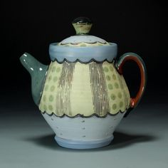 Green Dot Teapot by Amy Sanders of Charlotte, NC