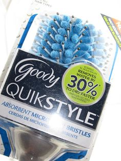 Goody QuikStyle Absorbent Microfiber Bristles Paddle Brush