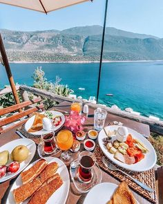 Breakfast in Kalkan, Turkey by Umit Yoruk! 🌺💦✨ Kalkan Turkey, Brunch, The Good Place, Architecture Design, Table Settings, Cheese, Table Decorations, My Favorite Things, Breakfast