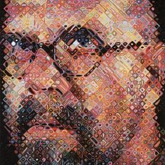Chuck Close, brilliantly beautiful! Exposition in 'Kunsthal' in Rotterdam until May the 20th