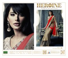 Nargis fakhri in hot red Saree Red Saree, Sarees, Bring It On, Romantic, Hot, Movie Posters, Collection, Film Poster, Popcorn Posters