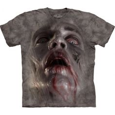 The well-known brand The Mountain is known for making eccentric and amazingly realistic t-shirts. From the Big Face collection is amazingly realistic 'Zombie Face' t-shirt. These pseudo 3D t-shirt of high quality that will surely impress you. Made from durable cotton, the image will not fade even after many washes. Perfect gift for all dark fantasy lovers! Shop now at clothingmonster.com!