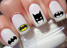 52 Batman Nail Decals by AMnails on Etsy https://www.etsy.com/listing/241263176/52-batman-nail-decals