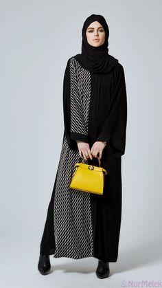 Alnuqi - Hand Made Custom design Abaya , Hijab and Dresses Abaya Fashion, Muslim Fashion, Modest Fashion, Fashion Outfits, Hijab Style, Hijab Chic, Abaya Dubai, Hijab Dress, Hijab Outfit