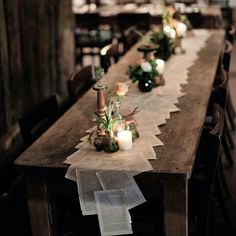 Table runners wedding - 50 The Best Winter Table Decorations You Need to Try – Table runners wedding Trendy Wedding, Diy Wedding, Wedding Music, Wedding Book, Wedding Ideas, Wedding Inspiration, Wedding Simple, Wedding Planning Book, Table Setting Inspiration