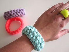 bracelets, crochet tutorials, danish, funki fox, buttons, foxes, diy, crochet bracelet, hæklede sommerarmbånd