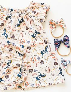 Rifle Paper Co Handmade Dress & Bloomers | TealandFinch on Etsy