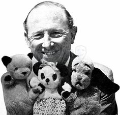 Sooty and Sweep with Harry Corbett - later on got to know his son when he was on tour with them