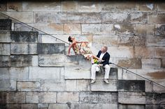 Beautiful engagement adventure in Paris, France with photos by Adagion Studio | via junebugweddings.com
