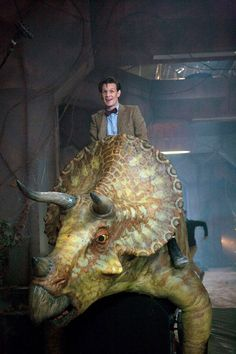 Watching this right now. 2:30 in the morning and the doctors on a dinosaur with Rory and Arthur Weasley. And they say youneed sleep.