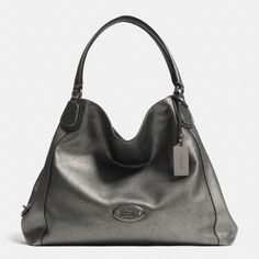 The Edie Shoulder Bag In Metallic Leather from Coach
