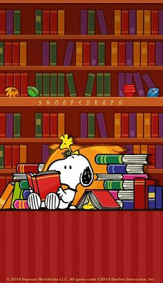 Snoopy and Woodstock - Reading ALL the Books Charlie Brown Und Snoopy, Meu Amigo Charlie Brown, Peanuts Cartoon, Peanuts Snoopy, Snoopy Cartoon, I Love Books, Good Books, Snoopy Und Woodstock, Snoopy Pictures
