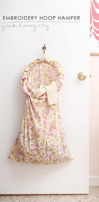 Sew your own mounted laundry hamper. | 21 Ingenious Ways To Create A Little More Space For Your Room