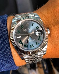 Rolex Datejust 41 Wimbledon on wrist - Rolex Datejust 41 Wimbledon on wrist You are in the right place about watch display Here we offer y - Rolex Watches For Men, Luxury Watches For Men, Men's Watches, Fashion Watches, Geek Fashion, Stylish Watches, Cool Watches, Rolex Presidential, Rolex Datejust Ii