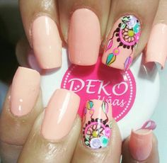 Short Nails, Long Nails, Easter Nails, Manicure Y Pedicure, Nailart, Parties, Pink, Beleza, Fingernails Painted