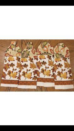 Fall Towels Set Of 4 Handmade #Handmade
