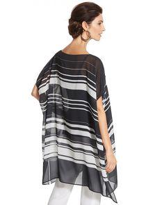Sheer Print Pullover Top
