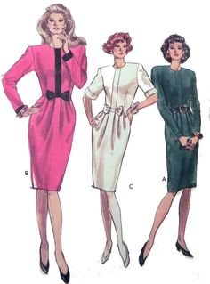 Vogue 7556 1980s Dress sewing pattern by retroactivefuture on Etsy, $7.00