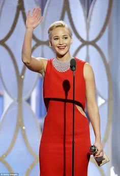 Jennifer Lawrence - Best Performance by an Actress in a Motion Picture: Musical or Comedy… at the 2016 Golden Globe Awards