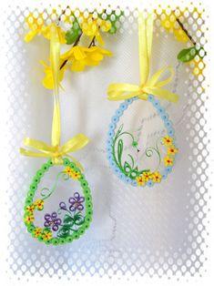 Quillingové variace velikonoční / Zboží prodejce jas.nadka | Fler.cz Quilling Cards, Paper Quilling, Easter Eggs, Envelopes, Creative, Frames, Target, Quilling, Easter Activities