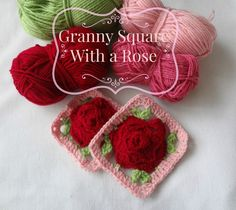 crochet rose square pattern