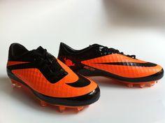 Chaussures de foot nike HyperVenom Phatal FG Orange Noir pas cher